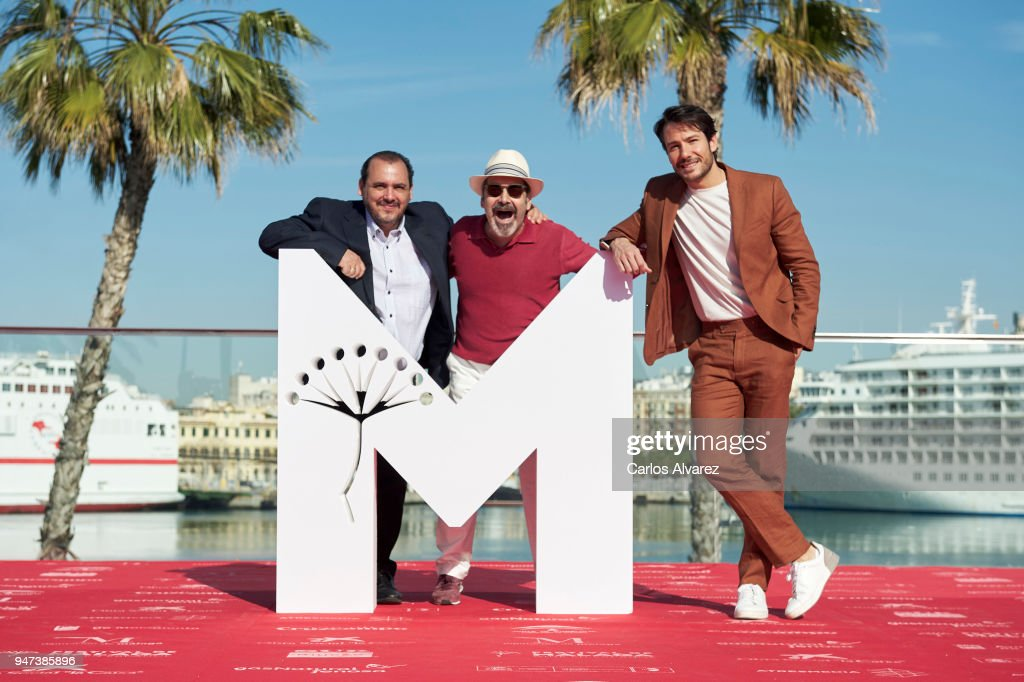 Actors Joaquin Nunez, Manuel Moron and Alejandro Albarracin attend 'Mi Querida Cofradia' photocall during the 21th Malaga Film Festival on April 17, 2018 in Malaga, Spain.