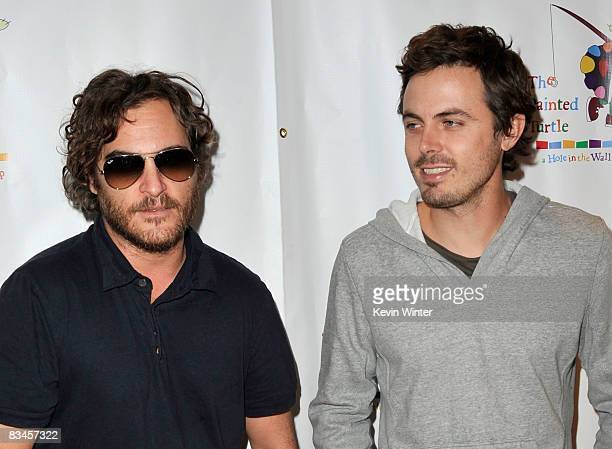 Actors Joaquin Phoenix and Casey Affleck arrive at the reading of 'The World Of Nick Adams' to honor Paul Newman held at Davies Symphony Hall on...