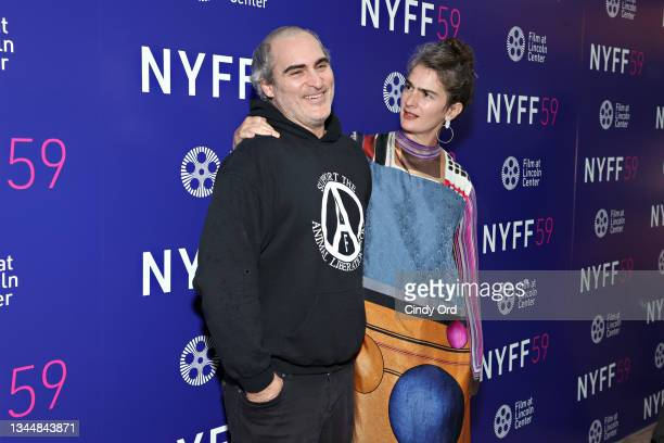 Actors Joaquin Phoenix and Gaby Hoffmann attend the photo call for 'C'mon C'mon' during the 59th New York Film Festival at Elinor Bunin Munroe Film...