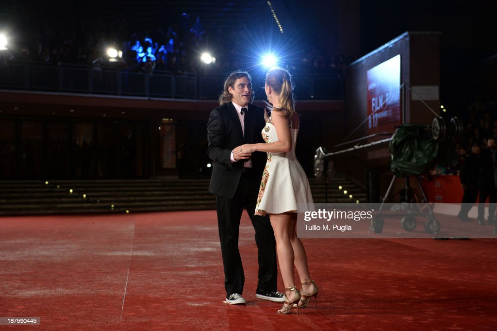Actors Joaquin Phoenix and Scarlett Johansson attend 'Her' Premiere during The 8th Rome Film Festival at Auditorium Parco Della Musica on November 10, 2013 in Rome, Italy.