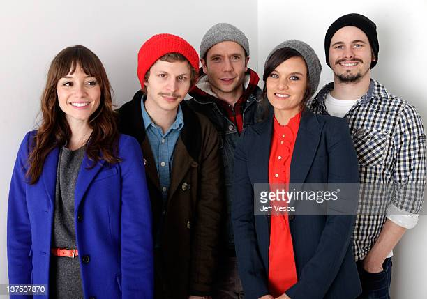 Actors Jocelin Donahue Michael Cera writer/actor/director Mark Webber and actors Frankie Shaw and Jason Ritter pose for a portrait during the 2012...