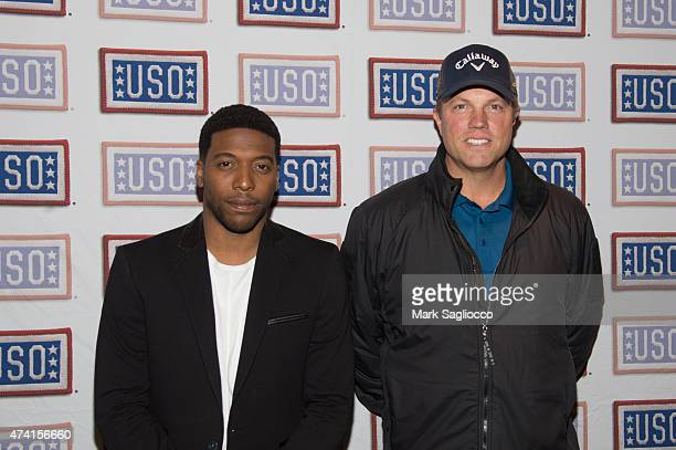 Actors Jocko Sims and Adam Baldwin attend the 2015 New York Fleek Week KickOff Party at Hard Rock Cafe Times Square on May 20 2015 in New York City