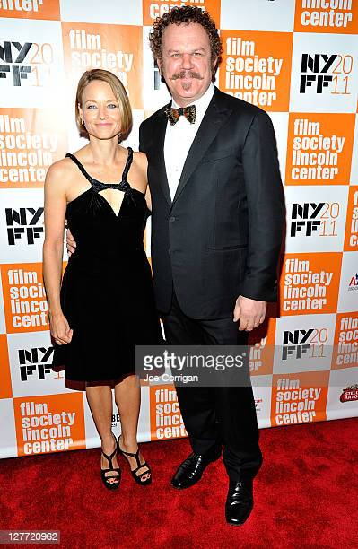 Actors Jodie Foster and John C Reilly attend the 2011 New York Film Festival opening night screening of Carnage at Alice Tully Hall Lincoln Center on...