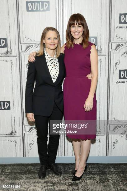 Actors Jodie Foster and Rosemarie DeWitt discuss 'Black Mirror Arkangel' at Build Studio on December 11 2017 in New York City