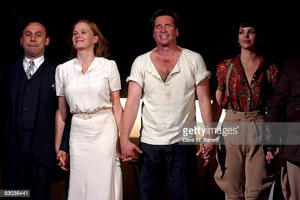 Actors Joe Alessi Charlotte Emmerson Val Kilmer and Rae Baker appear at the curtain call following the press night for The Postman Always Rings Twice...