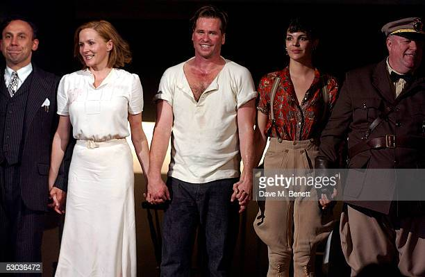 Actors Joe Alessi Charlotte Emmerson Val Kilmer Rae Baker and cast appear at the curtain call following the press night for The Postman Always Rings...