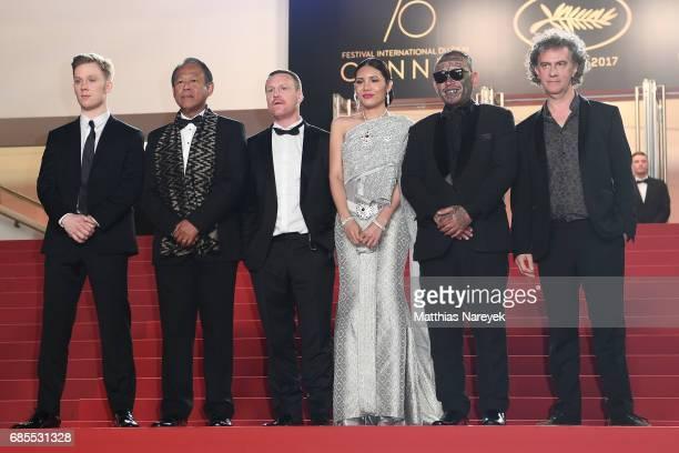 Actors Joe Cole and Vithaya Pansringarm former boxer Billy Moore actors Pornchanok Mabklang and Panya Yimumphai and director JeanStéphane Sauvaire...