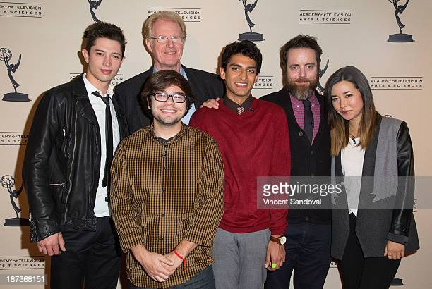 Actors Joe Dinicol Charlie Saxton Ed Begley Jr Karan Soni Jonathan C Daly and Maya Erskine attends The Television Academy presents Amazon Studios at...
