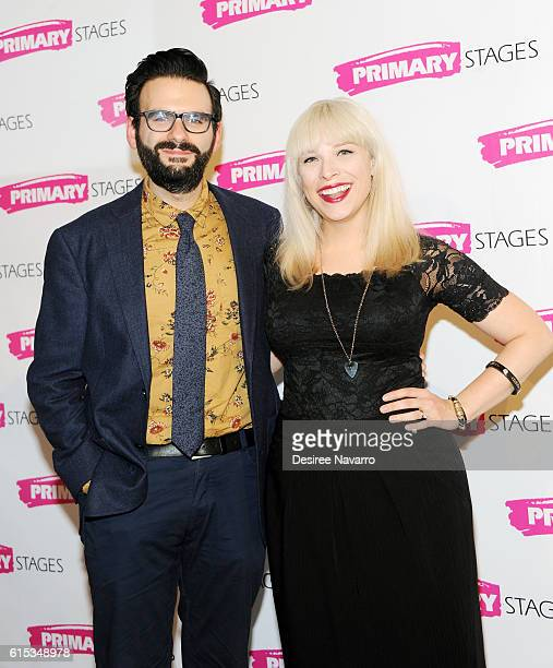 Actors Joe Iconis and Lauren Marcus attend Primary Stages 2016 Gala at 538 Park Avenue on October 17 2016 in New York City
