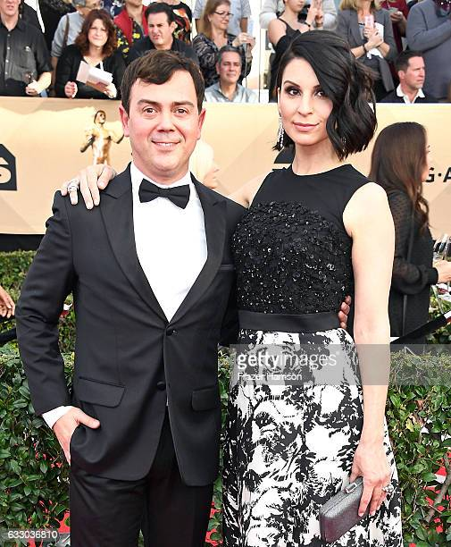 Actors Joe Lo Truglio and Beth Dover attend The 23rd Annual Screen Actors Guild Awards at The Shrine Auditorium on January 29, 2017 in Los Angeles,...