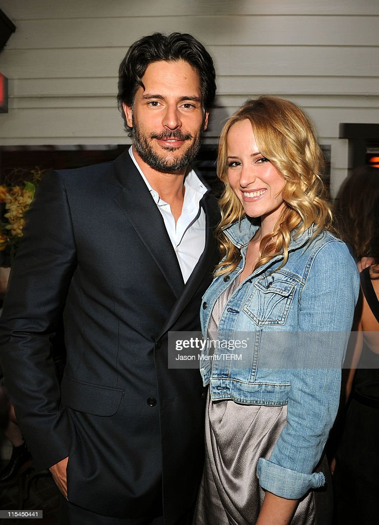 Actors Joe Manganiello (L) and Audra Marie attend the Details Magazine/Ryan Reynolds Party at Dominick's Restaurant on June 6, 2011 in Los Angeles, California.