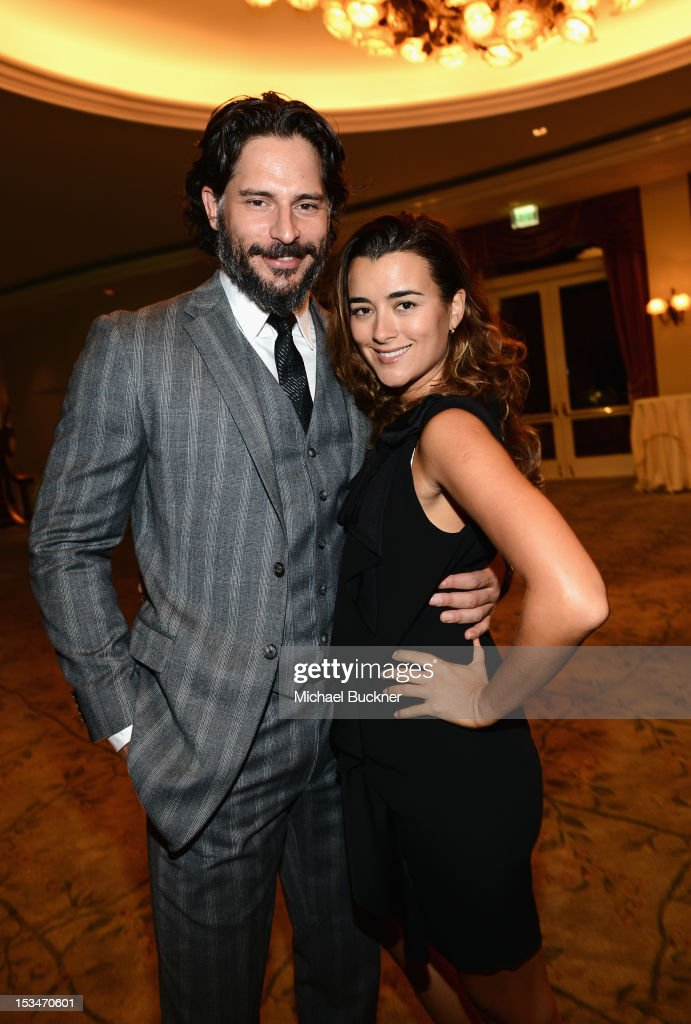 Actors Joe Manganiello and Cote de Pablo arrive at the 8th Annual GLSEN Respect Awards held at Beverly Hills Hotel on October 5, 2012 in Beverly Hills, California.