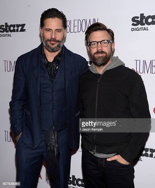 Actors Joe Manganiello and Jason Sudeikis attend the special screening of 'Tumbledown' hosted by Starz Digital and The Cinema Society at Aero Theatre...