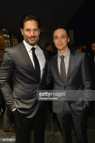 Actors Joe Manganiello and Jim Parsons attend Ermenegildo Zegna Global Store Opening hosted by Gildo Zegna and Stefano Pilati at Ermenegildo Zegna...