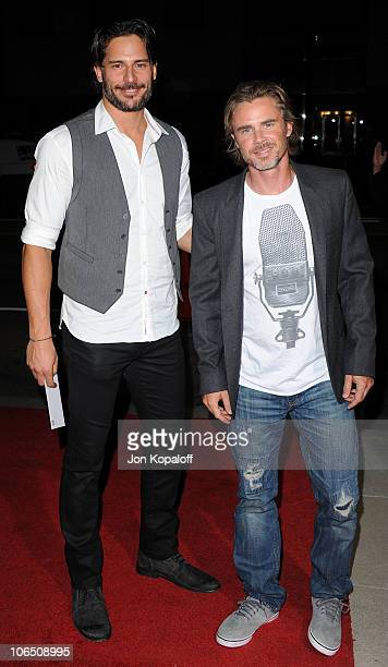 Actors Joe Manganiello and Sam Trammell arrive at the Los Angeles Premiere 127 Hours at AMPAS Samuel Goldwyn Theater on November 3 2010 in Beverly...