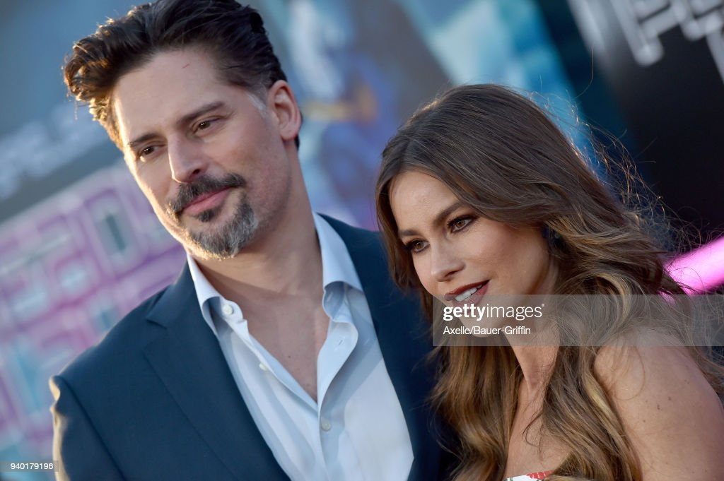 Actors Joe Manganiello and Sofia Vergara arrive at the Premiere of Warner Bros. Pictures' 'Ready Player One' at Dolby Theatre on March 26, 2018 in Hollywood, California.