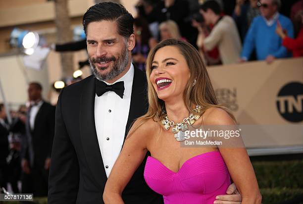 Actors Joe Manganiello and Sofia Vergara attend the 22nd Annual Screen Actors Guild Awards at The Shrine Auditorium on January 30 2016 in Los Angeles...