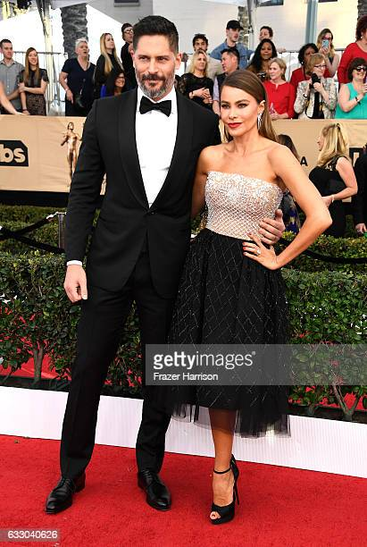Actors Joe Manganiello and Sofia Vergara attend The 23rd Annual Screen Actors Guild Awards at The Shrine Auditorium on January 29 2017 in Los Angeles...