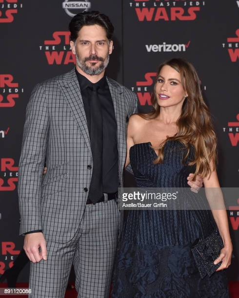 Actors Joe Manganiello and Sofia Vergara attend the Los Angeles premiere of 'Star Wars The Last Jedi' at The Shrine Auditorium on December 9 2017 in...