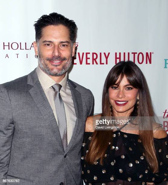 Actors Joe Manganiello and Sofia Vergara attend the Peggy Albrecht Friendly House's 28th annual awards luncheon at The Beverly Hilton Hotel on...