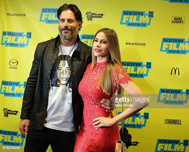 Actors Joe Manganiello and Sofia Vergara attend the premiere of 'Peewee's Big Holiday' during the 2016 SXSW Music Film Interactive Festival at...
