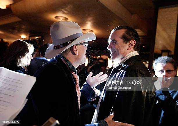 Actors Joe Pantoliano and Chazz Palmentari at the afterparty for the opening night Broadway Production of A Bronx Tale at Bond 45 on October 25 2007...