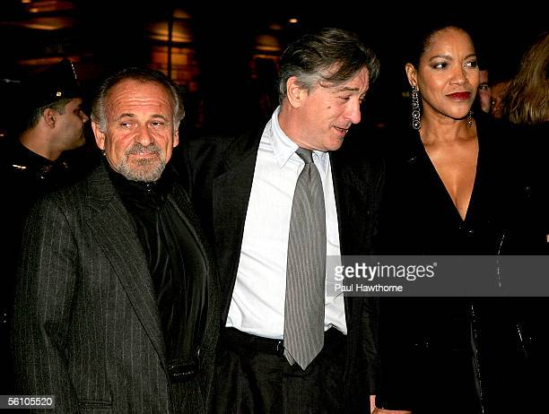 Actors Joe Pesci Robert De Niro and Grace Hightower attend the play opening night of 'Jersey Boys' at the August Wilson Theater November 6 2005 in...