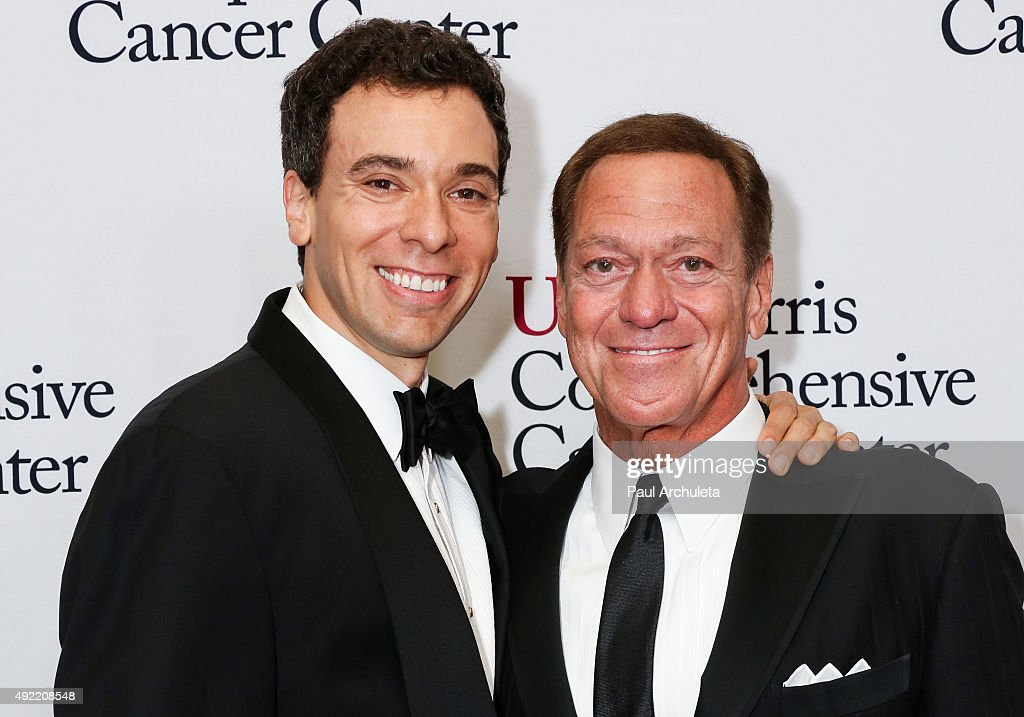 Actors Joe Piscopo Jr. (L) and Joe Piscopo Sr. (R) attend the USC Norris Cancer Center Gala at the Beverly Wilshire Four Seasons Hotel on October 10, 2015 in Beverly Hills, California.