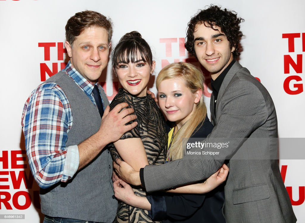 Actors Joe Tippett, Isabelle Fuhrman, Abigail Breslin and Alex Wolff attend 'All The Fine Boys' Opening Night on March 1, 2017 in New York City.