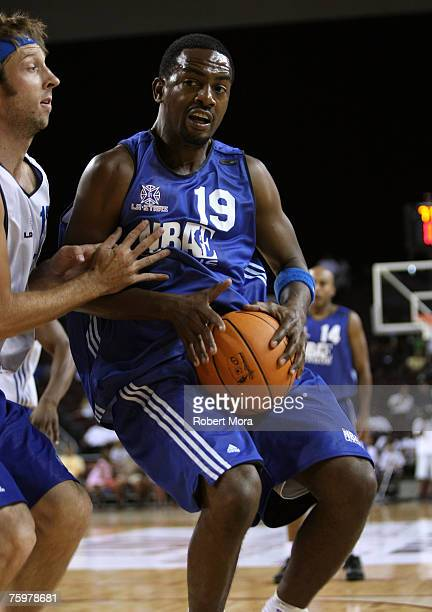 Actors Joel David Moore and Bill Bellamy during the LA stars celebrity all star charity weekend celebrity and NBA all star game at USC Galen Center...