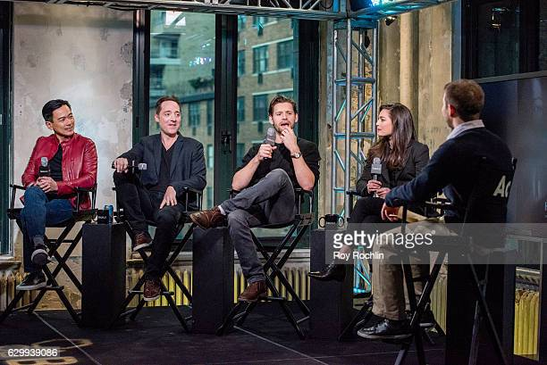 Actors Joel de la Fuente Brennan Brown Luke Kleintank and Alexa Davalos discusses The Man In The High Castle with The Build Series at AOL HQ on...