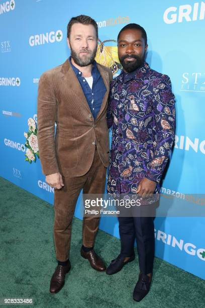 Actors Joel Edgerton and David Oyelowo attend the world premiere of 'Gringo' from Amazon Studios and STX Films at Regal LA Live Stadium 14 on March 6...