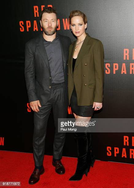 Actors Joel Edgerton and Jennifer Lawrence attend a special screening of Red Sparrow at The Newseum on February 15 2018 in Washington DC