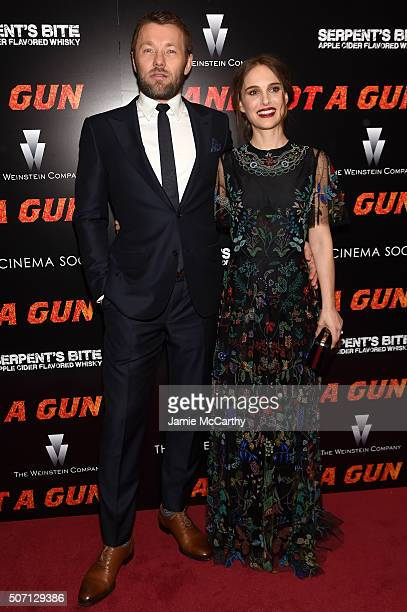 Actors Joel Edgerton and Natalie Portman attend the New York premiere of Jane Got A Gun hosted by The Weinstein Company with the Cinema Society and...