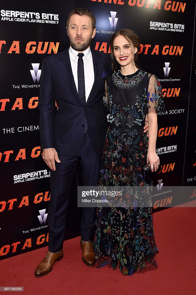 Actors Joel Edgerton (L) and Natalie Portman attend the New York premiere of 'Jane Got A Gun' hosted by The Weinstein Company with the Cinema Society and Serpent's Bite at The Museum of Modern Art on January 27, 2016 in New York City.