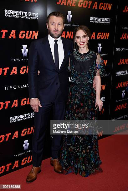Actors Joel Edgerton and Natalie Portman attend the New York premiere of 'Jane Got A Gun' hosted by The Weinstein Company with the Cinema Society and...