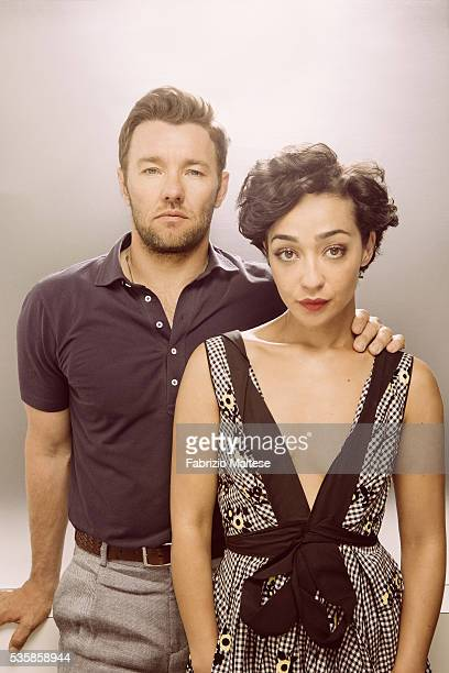 Actors Joel Edgerton and Ruth Negga are photographed for The Hollywood Reporter on May 14 2016 in Cannes France