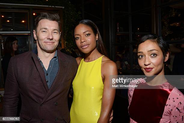 Actors Joel Edgerton Naomie Harris and Ruth Negga attend the Hollywood Foreign Press Association and InStyle celebrate the 2017 Golden Globe Award...