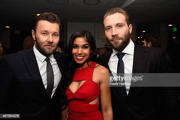 Actors joel Edgerton Sarah Roberts and Jai Courtney attend Australian in Film presents the Premiere Of Felony after party at Harmony Gold Theatre on...