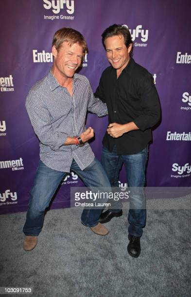 Actors Joel Gretsch and Scott Wolf arrive at the 2010 ComicCon Celebration Hosted By Entertainment Weekly and Syfy at Hotel Solamar on July 24 2010...