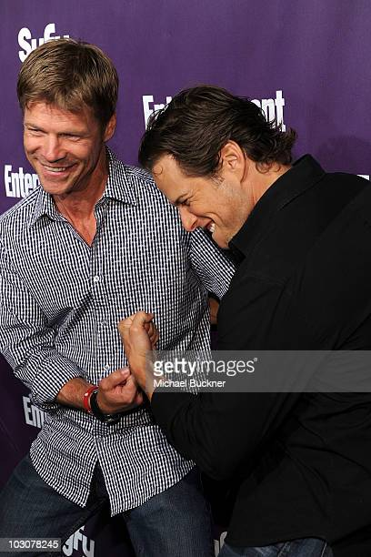 Actors Joel Gretsch and Scott Wolf attend the EW and SyFy party during ComicCon 2010 at Hotel Solamar on July 24 2010 in San Diego California