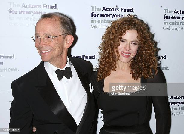 Actors Joel Grey and Bernadette Peters attend the after party for the Actors Fund reading of All About Eve at Bond 45 on November 10 2008 in New York...