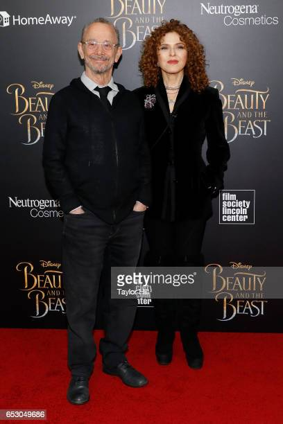 Actors Joel Grey and Bernadette Peters attend the 'Beauty and the Beast' New York screening at Alice Tully Hall Lincoln Center on March 13 2017 in...
