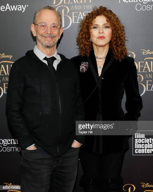 Actors Joel Grey and Bernadette Peters attend the Beauty and the Beast New York screening at Alice Tully Hall Lincoln Center on March 13 2017 in New...