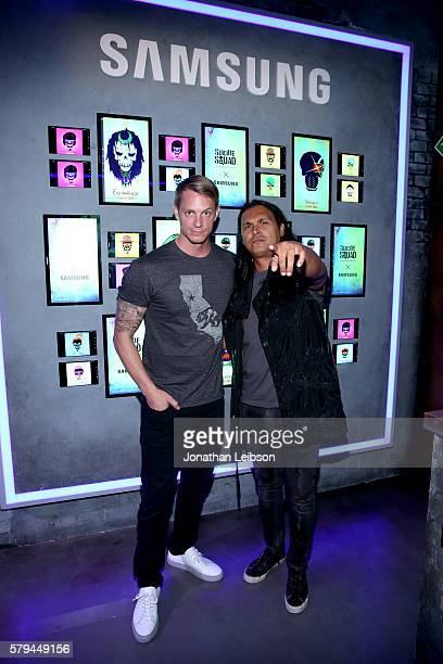 Actors Joel Kinnaman and Adam Beach of 'Suicide Squad' attend the Samsung Experience at San Diego ComicCon 2016 at Hard Rock Hotel San Diego on July...