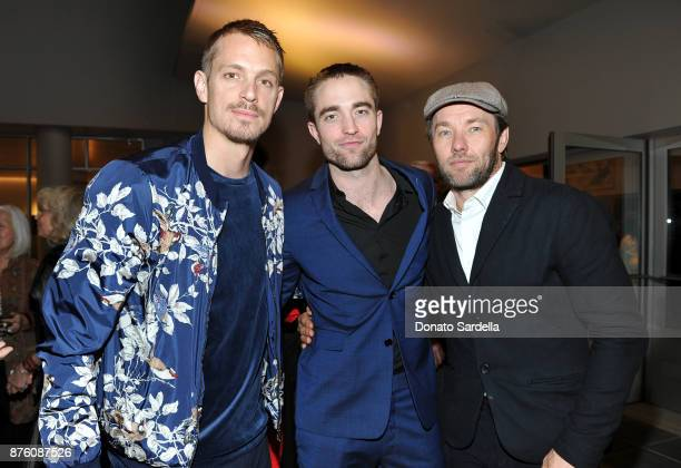 Actors Joel Kinnaman Robert Pattinson and Joel Edgerton attend the 2017 GO Campaign Gala at NeueHouse Los Angeles on November 18 2017 in Hollywood...
