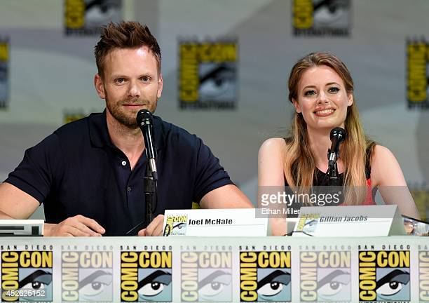 Actors Joel McHale and Gillian Jacobs attend the 'Community' panel during ComicCon International 2014 at the San Diego Convention Center on July 24...