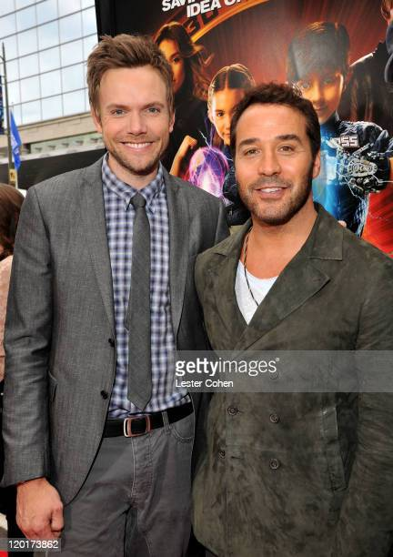 """Actors Joel McHale and Jeremy Piven arrive at """"Spy Kids: All The Time In The World 4D"""" Los Angeles premiere at the Regal Cinemas L.A. Live on July..."""