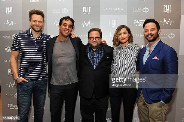 Actors Joel McHale, Bobby Cannavale, Director Ross Katz, Actress Rose Byrne and Actor Nick Krol lattend the Variety Studio presented by Moroccanoil...
