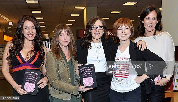 Actors Joely Fisher Laraine Newman author/actor Annabelle Gurwitch actors Frances Fisher and Annabeth Gish attend the Annabelle Gurwitch book signing...